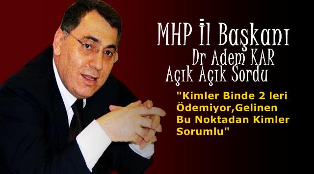 MHP den Karabükspor için yazılı Açıklama