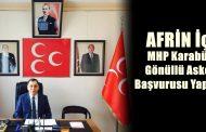 MHP Karabük'te, Gönüllü Askerlik Başvurusu Yapıyor