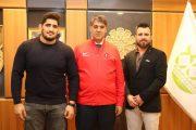Avrupa şampiyonundan Rektör Polat'a ziyaret