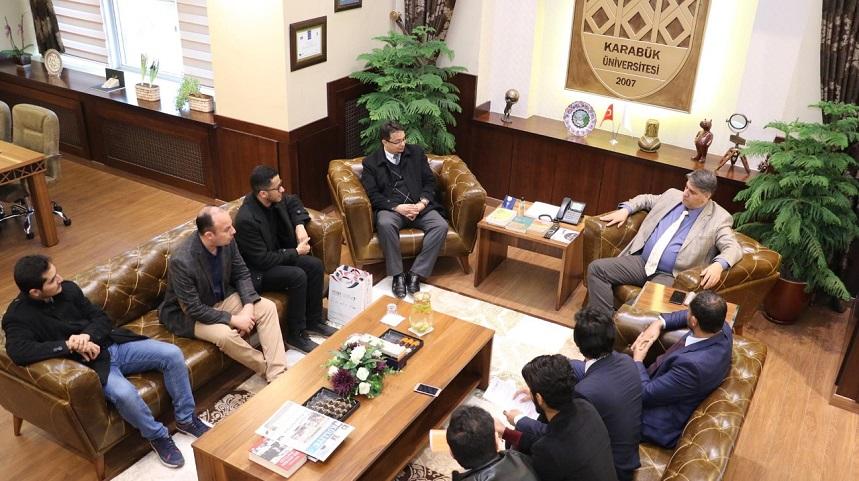 Yemenli heyetten Rektör Prof. Dr. Refik Polat'a ziyaret