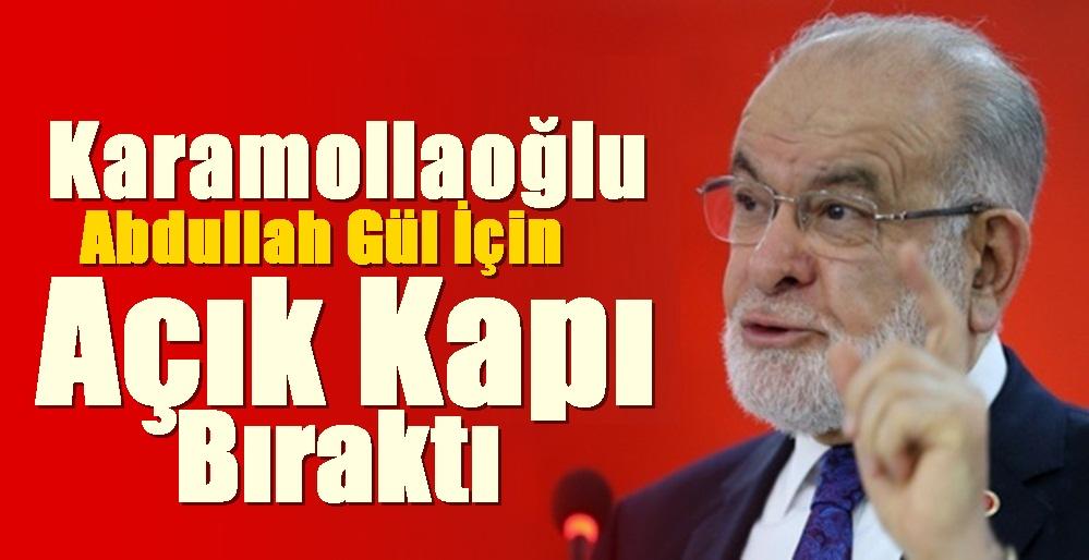 Karamolloğlu , Abdullah GÜL İçin Kapıyı Açık Bıraktı