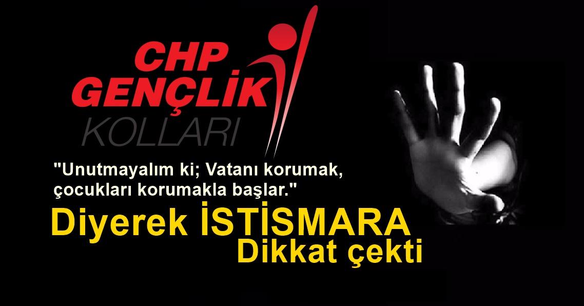 CHP Gençlik Kolları İstismara Karşı Basın Açıklaması Yaptı