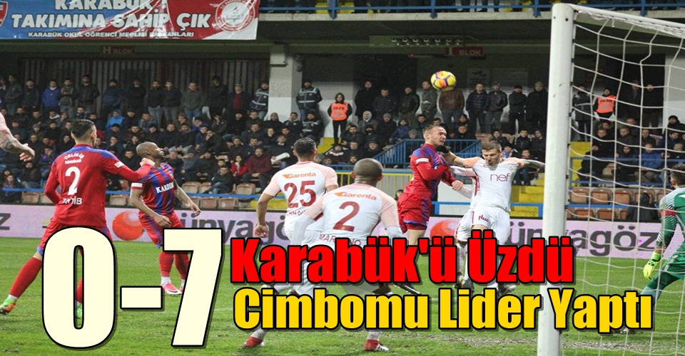 Karabükspor 0-7 Galatasaray