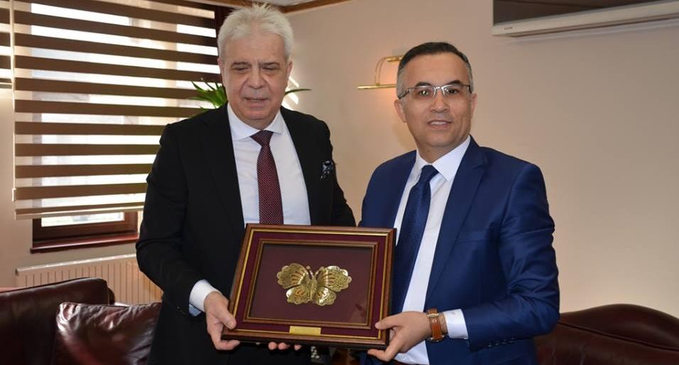 Makedonya Devlet Bakanı Kahil'den Vali Çeber'e ziyaret