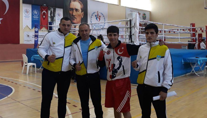 KBÜ'lü öğrenciler boksta Türkiye 2.si oldu