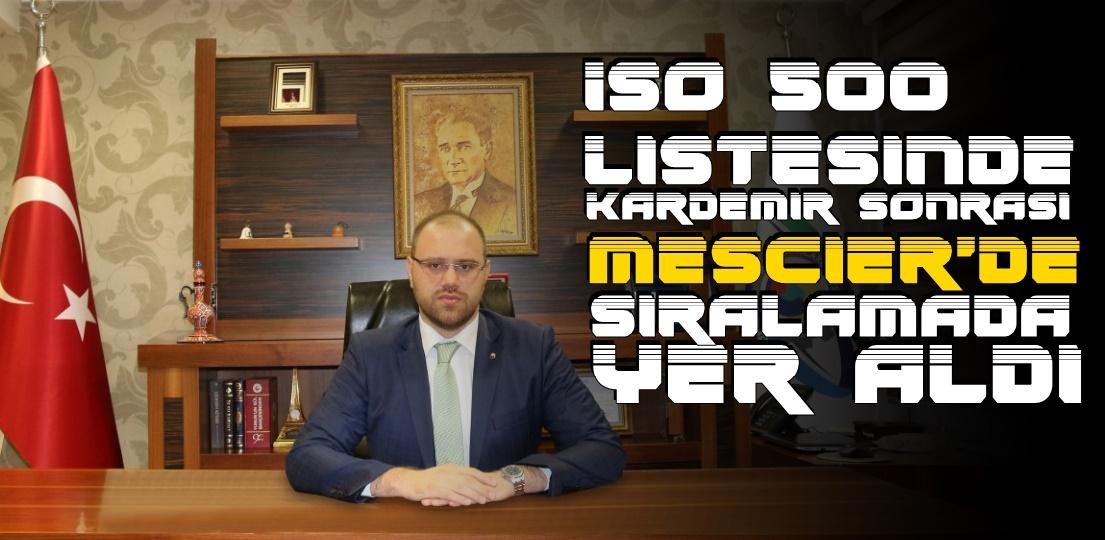 ISO 500 de MESCİER DÇ De Sıralamada...