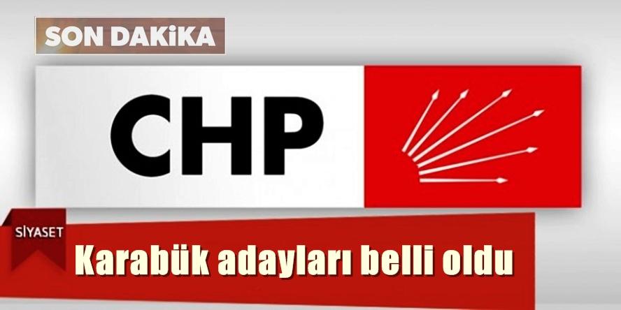 CHP de Adaylar Belli Oldu