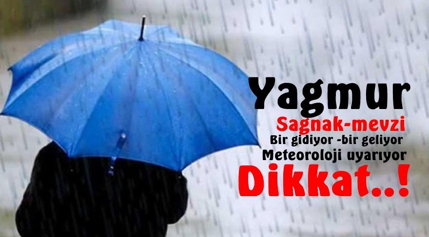 Hafta sonu yağmur,dolu,rüzgar....