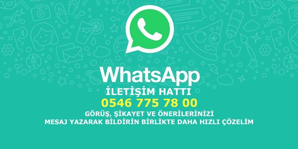 Şikayetin Varsa 0546 775 78 00 WhatsApp Destek Hattına