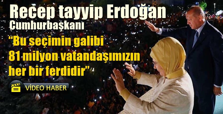 Cumhurbaşkanı Erdoğan Halka hitap etti