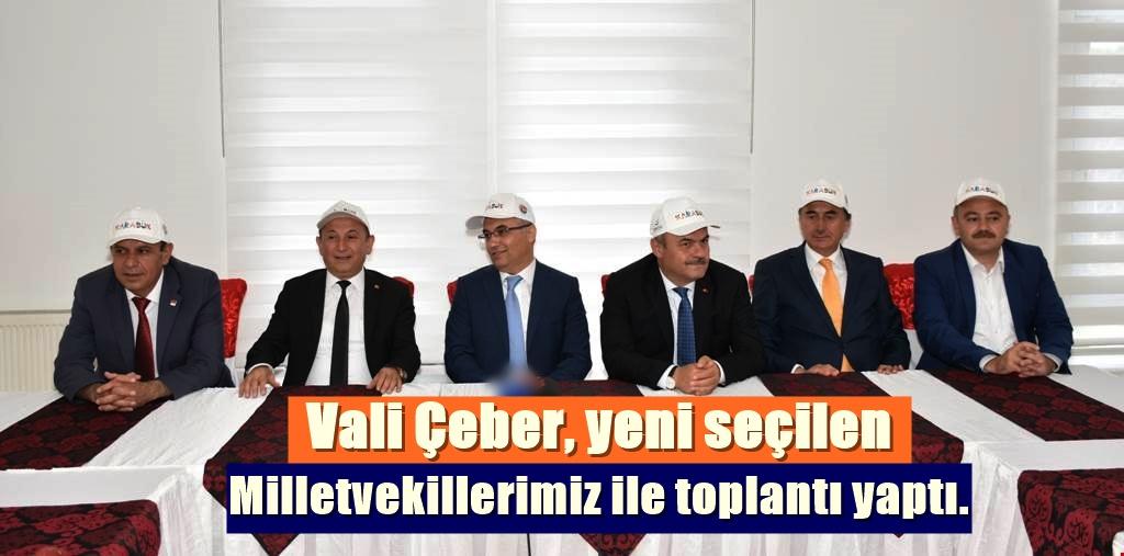Vali Vekiller ile toplantı yaptı