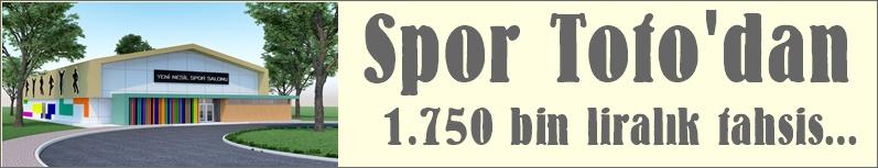 Spor Toto'dan 1 Milyon 750 Bin Liralık ödenek