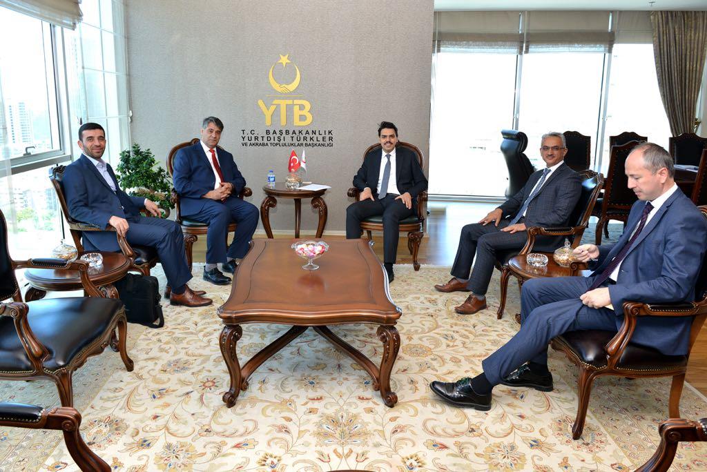 Rektör Polat'tan, YTB'nin yeni başkanı Eren'e hayırlı olsun ziyareti
