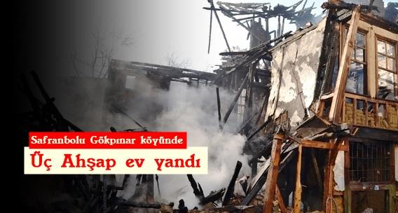 Yangın 3 evi kullanılmaz hale getirdi