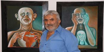 Usta Ressam Korona virüsü hissetti tablolara yansıttı