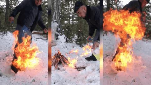 Ateşi benzinle yakmaya çalıştı, faciaya neden oluyordu