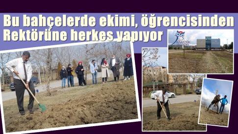 Karabük Üniversitesi'nde kurulan 'Unika Moral Hobi Bahçesi'