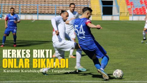 Kardemir Karabükspor: 0 – Turgutluspor: 4