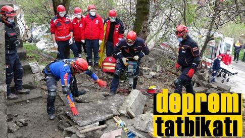 Karabük'te 5.6 büyüklüğünde deprem tatbikatı gerçekleştirildi