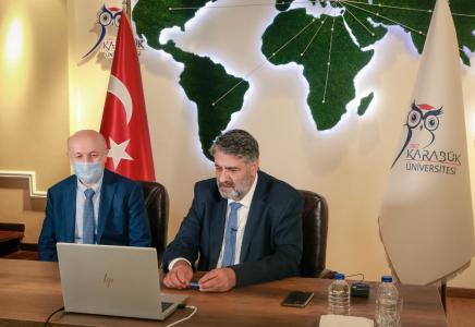 KBÜ'de uluslararası görüşmeler dijital olarak gerçekleştiriliyor