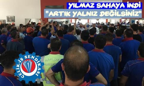 """YILMAZ, SAHAYA İNDİ, """"BİRLEŞİN DESTEK OLUN HEP BİRLİKTE KAZANALIM""""DEDİ"""