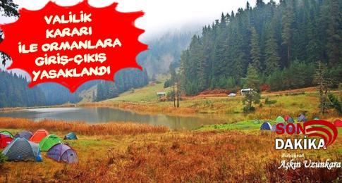 Karabük'te orman alanlarında piknik yapılmaması ve bu alanlara giriş-çıkış yasaklandı