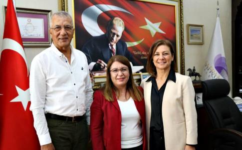 Karaca ve Tarhan Başkan Köse'yi Ziyaret Etti
